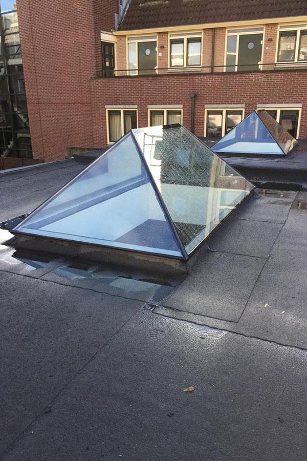 Glazen dak koepel