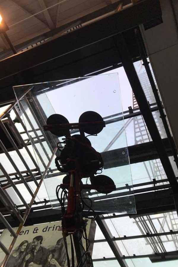 Verkaikglas Glazen dak winkelcentrum Hoofddorp
