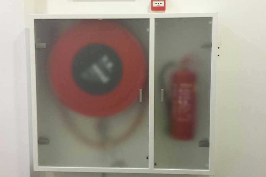 Verkaikglas Glazen deurtje brandhaspel