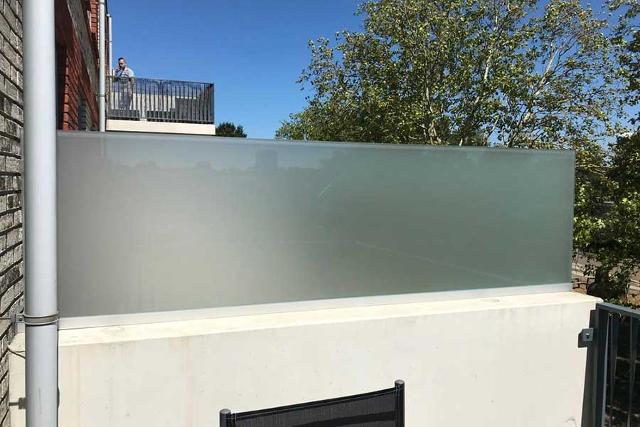 Verkaik glas balkonafscheiding