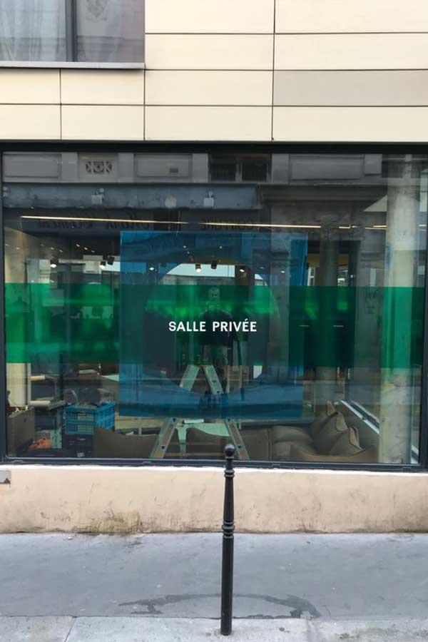 Verkaikglas winkel-etalage-ruiten-Salle-Privee