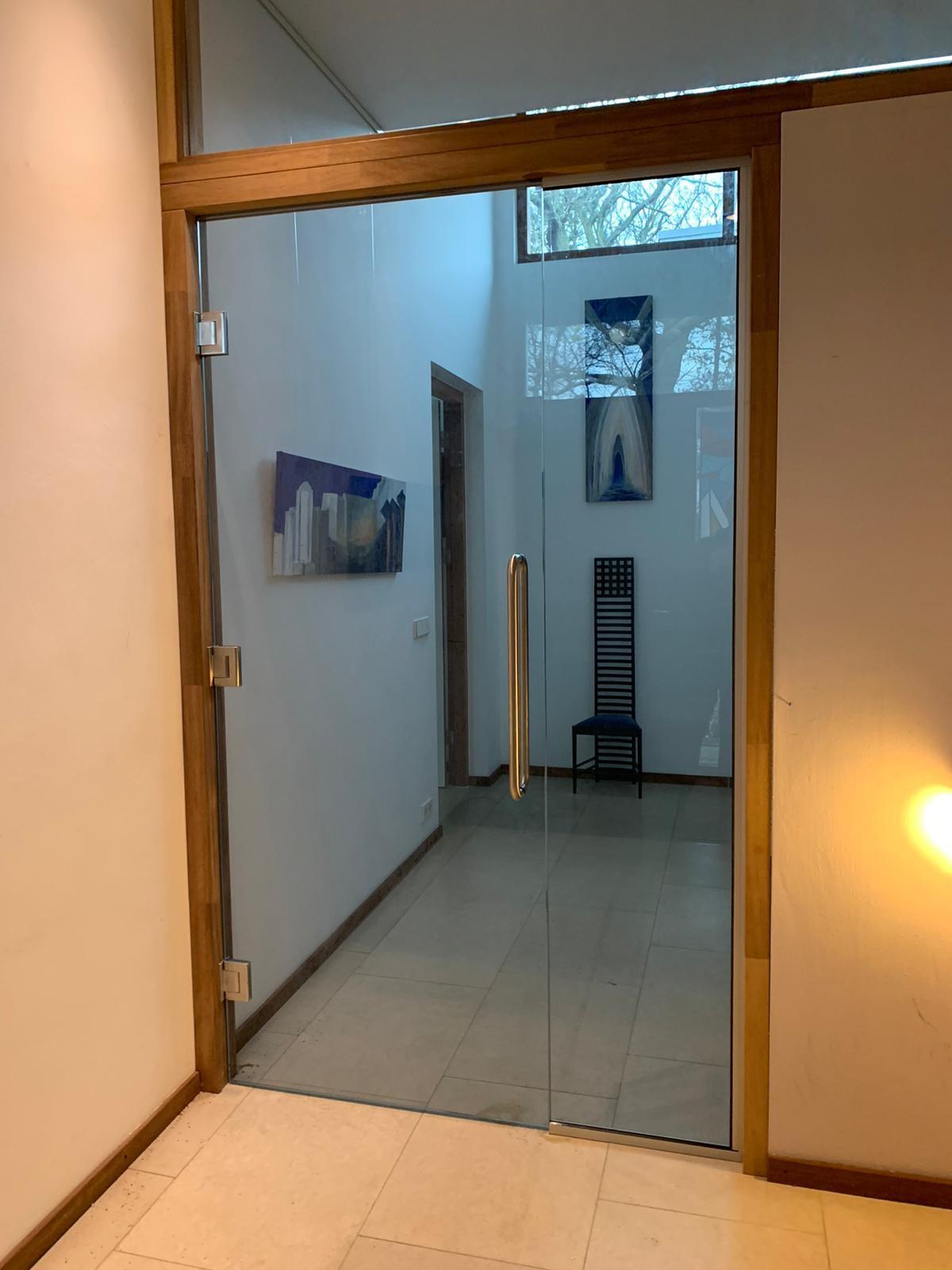 glazen binnen deur